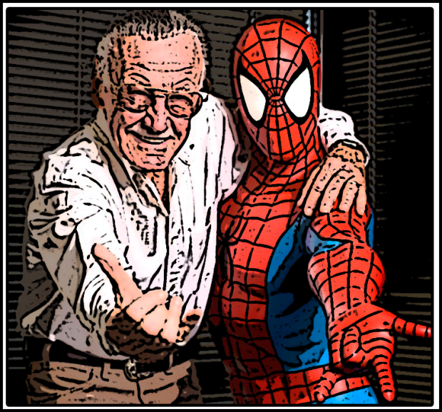 Stan lee and spiderman by Mohssgame