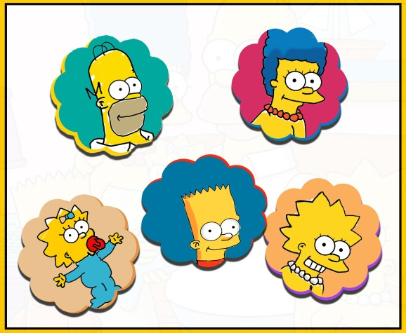 Les-Simpson-Mohssgame-Homer-Marge-Bart-Lisa-Maggy