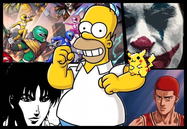 Mohssgame-blog-2019-Les-Simpson-Slam-dunk-Joker-Baki-Pokémon-Power-rangers